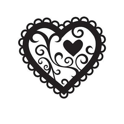 "Wedding Stamp  Love Heart Darice /""Valentine Heart/"" Embossing Folder 4.25x5.75/"""