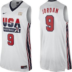 official photos 8b91e 366c7 NWT Nike Michael Jordan #9 Olympic Jersey 1992 Dream Team ...