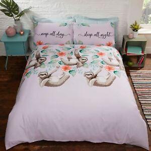 Sehr Faultier Einzelbett Bettbezug und Kissenbezug Set Kinder XG08