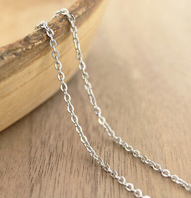 "N619 Stainless Steel Cable Chain Connector Necklace 28/"" 1.5mm 1 Necklace"