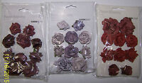 U Choose Kaiser Craft Burgundy Lilac Ruby Paper Blooms Embellishments Flowers