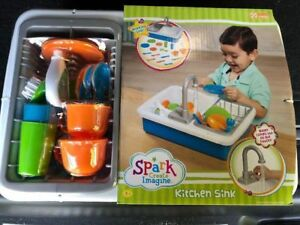 Spark Kitchen Sink Create Imagine Kids Play Toy Real Water | eBay