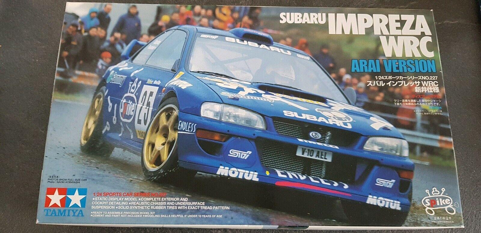 1 24 Tamiya Subaru Impreza WRC Arai Version Rare Kit  24227