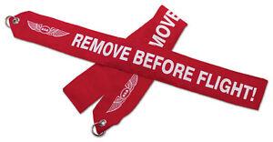 ASA Remove Before Flight Banner - High Visibility Red Streamer - ASA-RBF