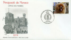 Details about Monaco 2019 FDC Tibetan Mastiff International Dog Show 1v Set  Cover Dogs Stamps
