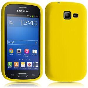 Détails sur Housse Etui Coque en Silicone Jaune pour Samsung Galaxy Trend Lite Film de Pro