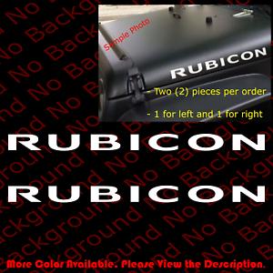 2 pieces x RUBICON Jeep Wrangler Hood Decal Set Sticker Fender CJ YJ TJ JK JW012
