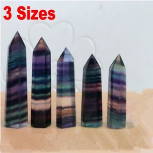 Natural-Fluorite-Amethyst-Point-Pink-Rose-Crystal-Quartz-Healing-Wand-Stone-Lot