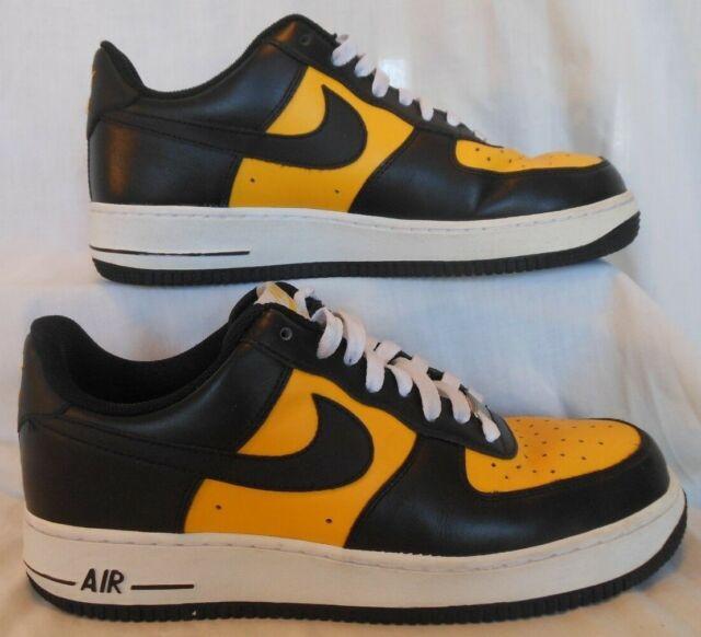 NIKE AIR FORCE 1 '07 VARSITY MAIZE baskeball shoesathletic sneakers size 9.5