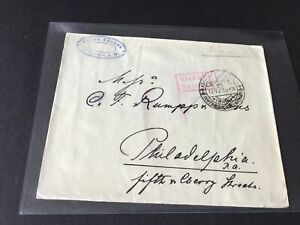 Anton Ahrens Offenbach 1923 to Philadelphia   stamps cover Ref R28693