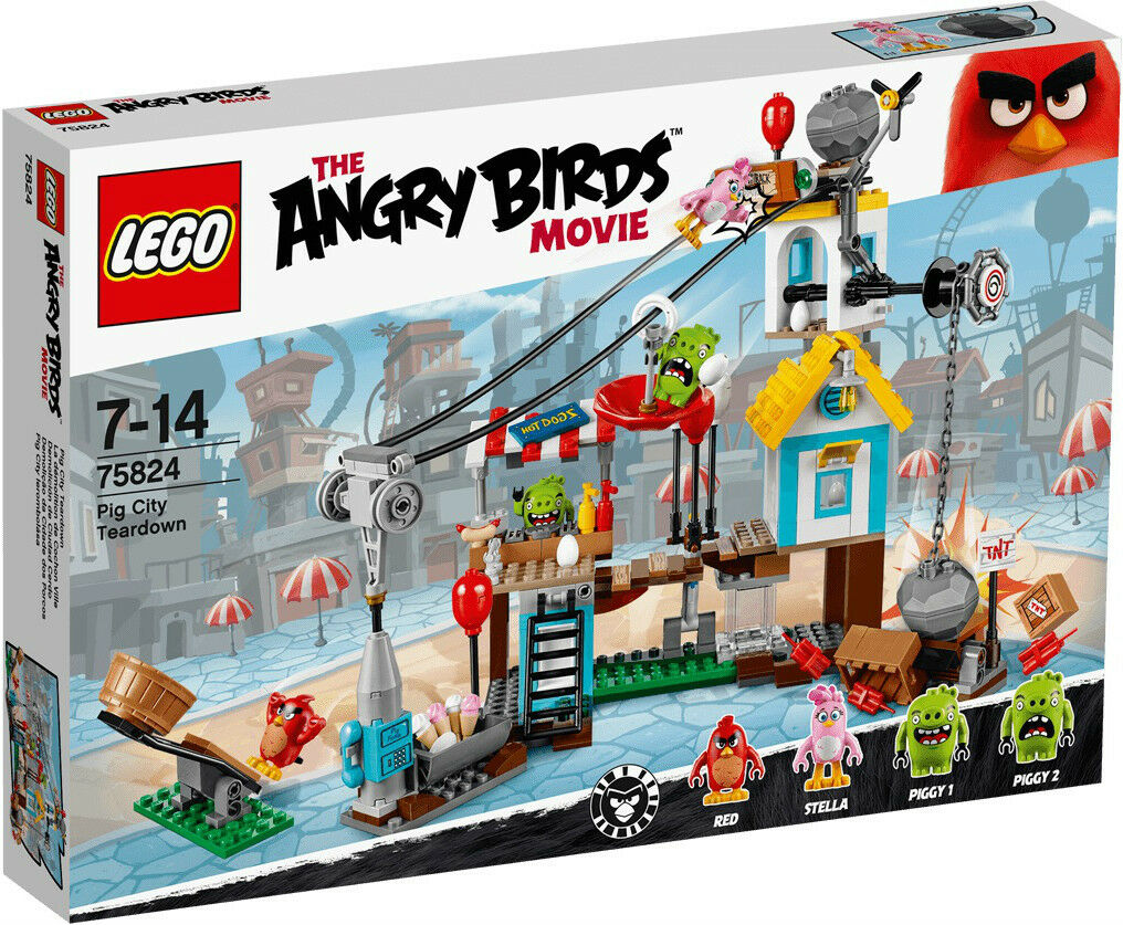 LEGO 75824 ANGRY BIRDS - Pig City Teardown [RETIRED]