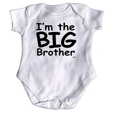 Im The Big Brother Funny Baby Infants Babygrow Romper Jumpsuit