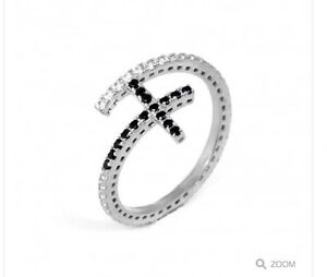 sterling silver 925 cross ring with cz - <span itemprop=availableAtOrFrom>romford, Essex, United Kingdom</span> - sterling silver 925 cross ring with cz - romford, Essex, United Kingdom