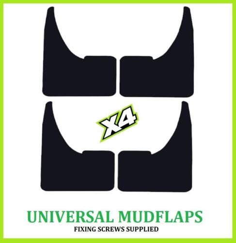 UNIVERSAL FIAT Black MUDFLAPS Mud Flaps SET of 4