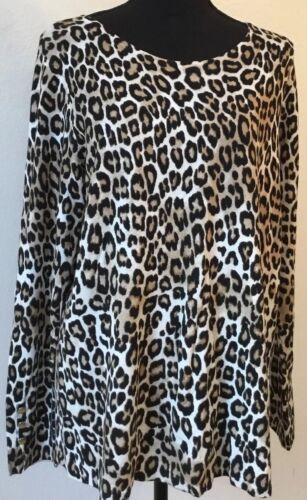 Animal Originale 2 Size marrone Maglione 69 Print Pullover 00 Nero Nwt Chico's wxYYzq5g