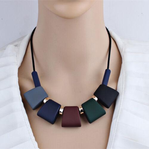 Femmes Court Collier Déclaration Sweater Chaîne Collier /& pendentifs colorés Perles