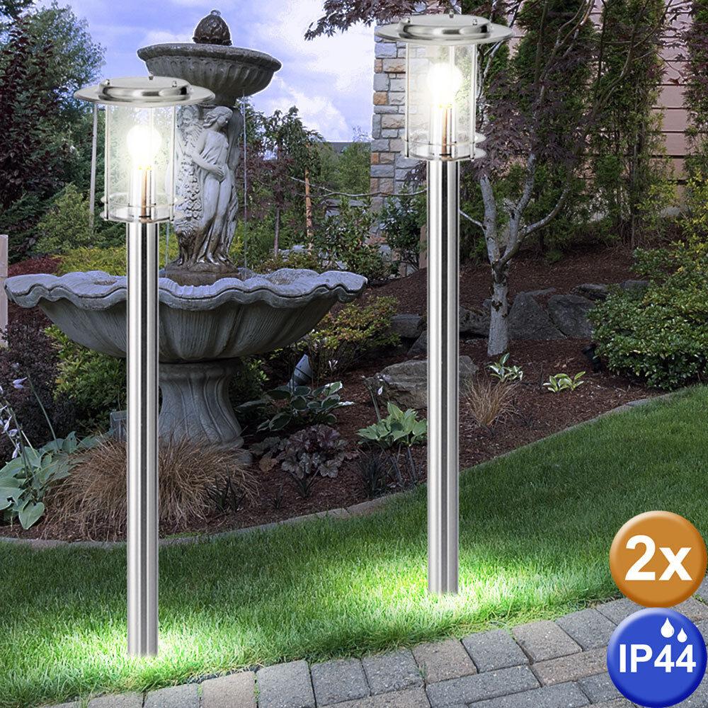 Ensemble de luxe de 2 lampes étage jardin terrain de stand lumières coulé vierge