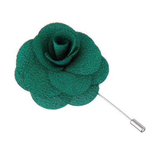New Lapel Flower Daisy Handmade Boutonniere Stick Brooch Pin Men Accessories