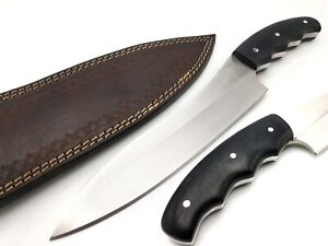 TKD CUSTOM HANDMADE D2 STEEL HUNTING CHEF DAGGER KNIFE WITH MICARTA HANDLE
