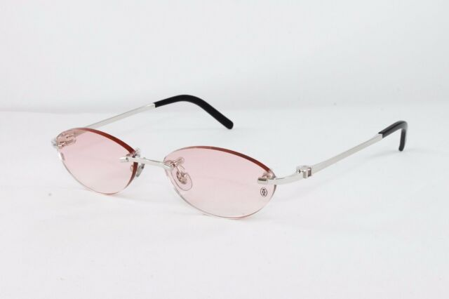 438bf9059bfc Cartier Platinum Rimless Amethyst Sunglasses T8100633 Frames France ...