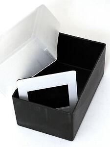 Box-Scatola-Scatolina-Archiviazione-Porta-Dia-Diapositive-Nera