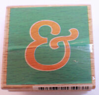 And Writing Words Symbol Studio Wooden Rubber Stamp