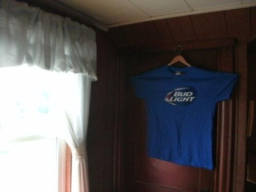 Bud Light T-shirt Taille XL Bleu Gildan 100/% COTON épais NEUF