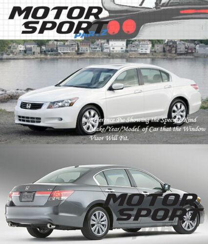 5pcs Out-Channel Visor Rain Guard Sunroof Combo For Honda Accord Sedan 2008-2012