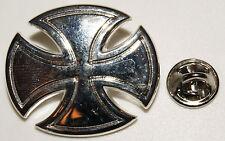 Iron Cross Eisernes Kreuz Biker Motorrad Chopper l Anstecker  Abzeichen l Pin 60
