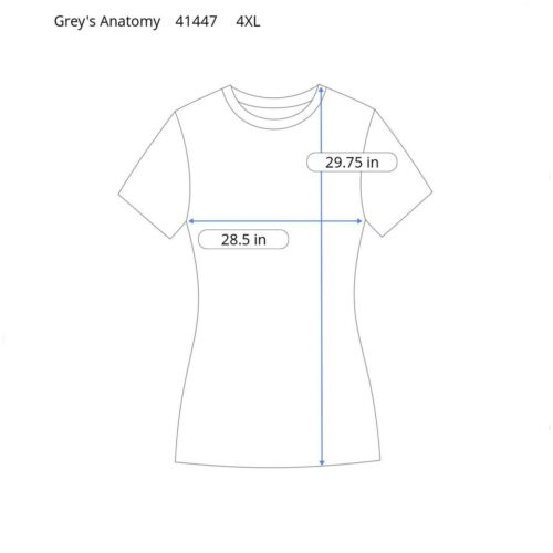 Grey/'s Anatomy Scrub Top Active 41447 Cool Water