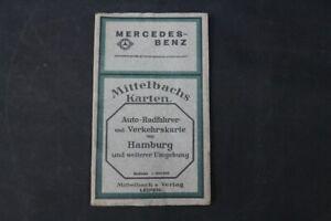 alte-Landkarte-Hamburg-Auto-Rad-Verkehrskarte-old-vintage-Sammler