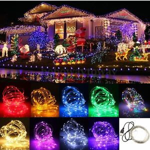 10m 100 led usb lichterkette streifen weihnachten party beleuchtung au en innen ebay. Black Bedroom Furniture Sets. Home Design Ideas