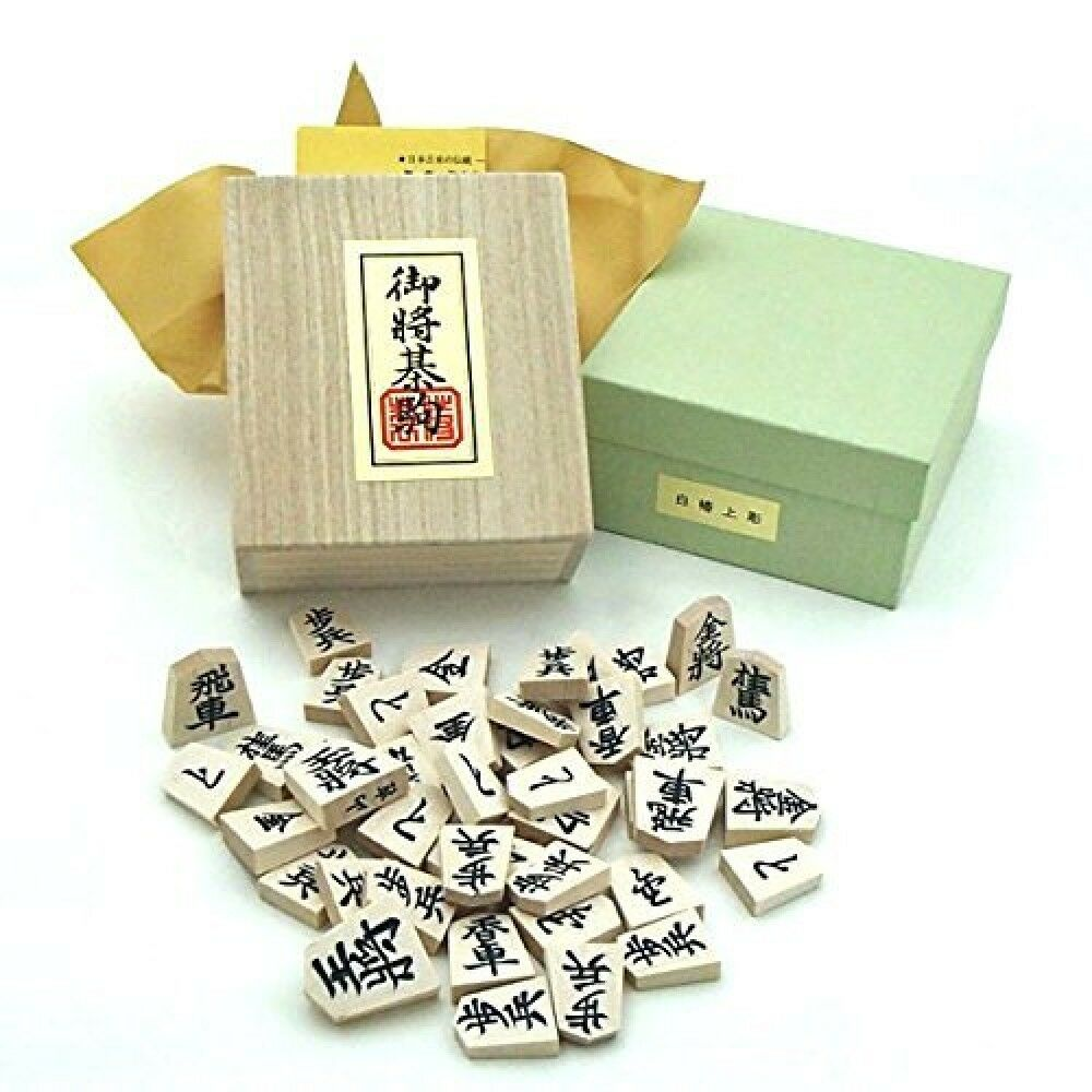 Tendón Shogi Shogi Piezas hakutsubakiue hokiri En Caja Nuevo Japón con seguimiento