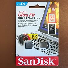 Sandisk 32GB Ultra Fit USB 3.0 Memory Stick Flash Pen Drive 150MB/s velocidad de respaldo