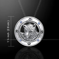 Ted Andrews Jaguar Gemstone Sterling Silver Pendant By Peter Stone Fine Jewelry