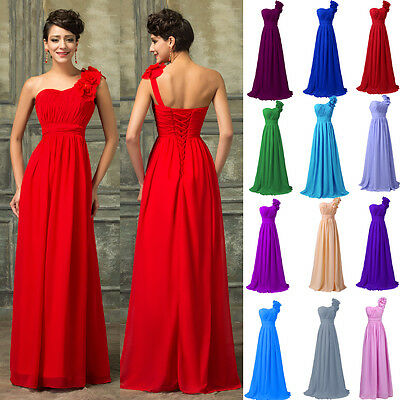 2016 Sexy Long Women's Bridesmaid Dresses Cocktail Evening Prom Ball Gown Dress