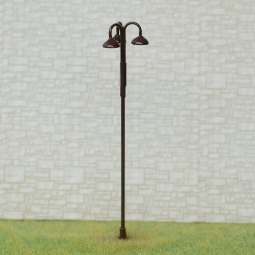 5 x OO HO scale LED street light Model Train Railroad path lamp post #703BR