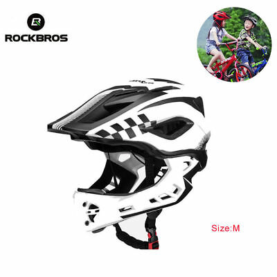 ROCKBROS Children Cycling Ventilation Removable Full Safety Helmet Red Size S