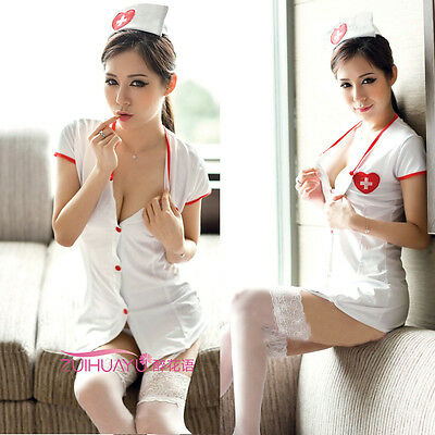 Adult Sexy Lingerie Nurse Costume Doctor Cosplay Outfit Fancy Dress Set S M L
