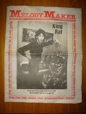 MELODY MAKER 1980 DEC 27 BOOM TOWN RATS UNDERTONES YES