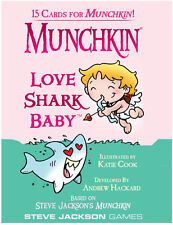 Munchkin Love Shark Baby Expansion Adds 15 Cards Steve Jackson Booster Valentine