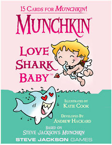 Munchkin-Love-Shark-Baby-Expansion-Adds-15-Cards-Steve-Jackson-Booster-Valentine