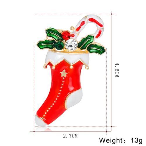 Noël Noël Cristal Tree Santa Bonhomme De Neige Broche Pin De Mariée Femme Bijoux Cadeau