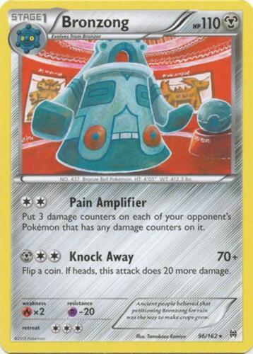 4x Bronzong Rare Pokemon XY BreakThrough Card # 96 XY08-096