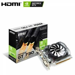 MSI Video Card GeForce GT 730 White Board Model PCI Exp 2.0 4GB DDR3 From Japan