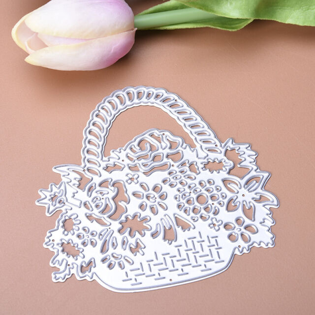 Flower Basket Metal Cutting Dies Stencil For Scrapbooking Paper Cards Gift Decor