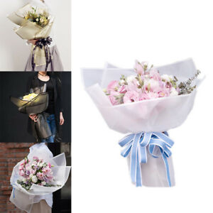 20pcs Frosted Flower Wrapping Paper Waterproof Florist Art Wedding