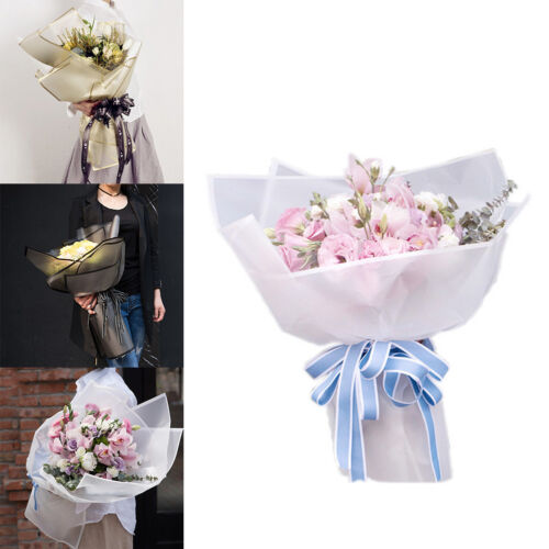 20PCS Flower Gift Wrapping Paper Frosted Florist Art Wedding Bouquet 60x60cm FL