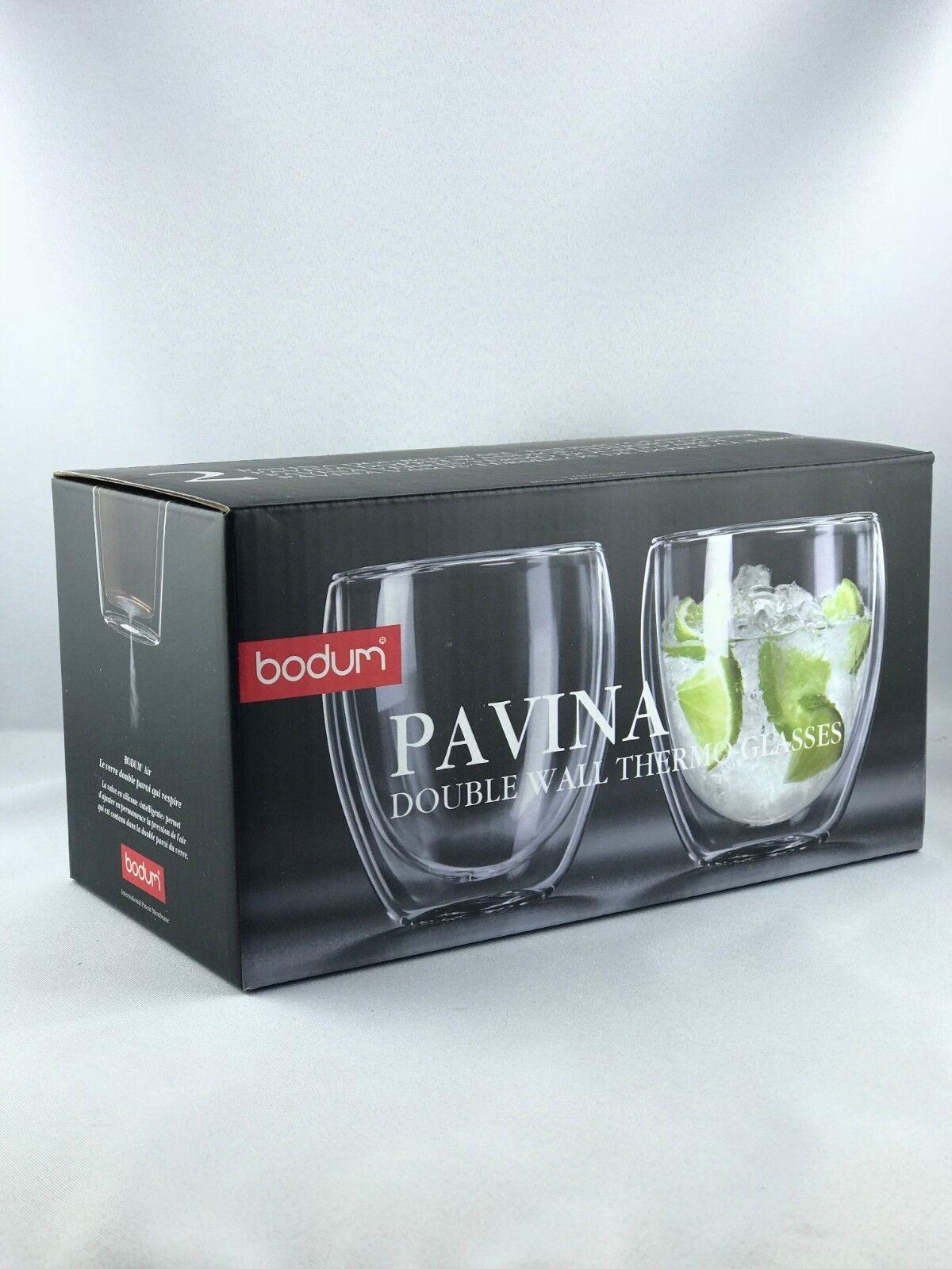 2 x 2er Set Bodum PAVINA Glas doppelwandig 0.25L Neu | Sorgfältig ausgewählte Materialien