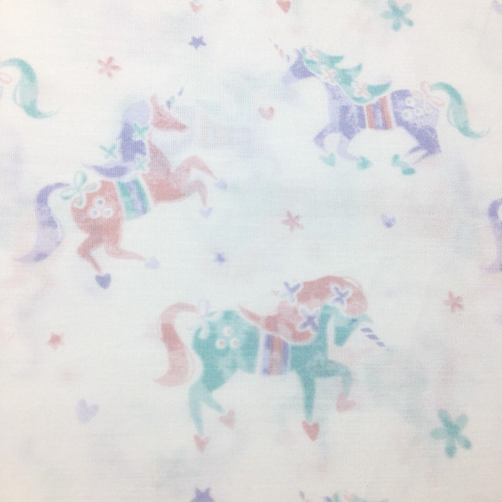 4pc Nicole Miller Unicorn Full Sheet Set Rose Rose Violet Bleu Sarcelle Vert Coeur étoile